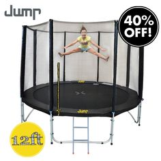 Jump Trampoline with Net & Ladder Trampoline With Net, Trampoline Reviews, Backyard Trampoline, Things That Bounce, Cool Things To Buy, Hide Video, Basketball Tricks, Double Lock, Days Before Christmas