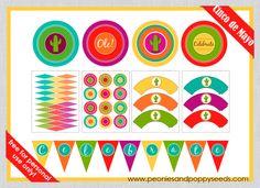 Celebraciones Caseras: kit fiesta mexicana - imprimible gratis