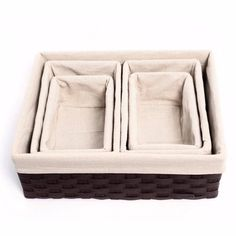 Houseware Storage Cube Basket Bin 5 Pack Box Organizer Closet Solution Various Sizes Cube Storage, Kitchen Storage, Bathroom Organization, Storage Organization, Basket Shelves, Baskets, No Closet Solutions, Small Bathroom, Packing