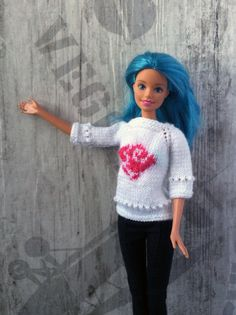 Hand-knitted white sweater pullover with pink от OrdaliaHandwork