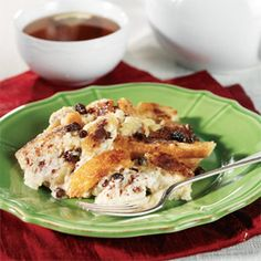 Served warm from the oven, this comforting bread pudding is flavored with cinnamon and currants...it's the perfect cool weather dessert.