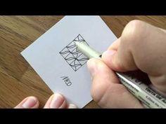 Zentangle Muster (Pattern): Meo - YouTube