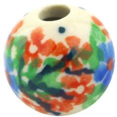 This Polish Pottery Stoneware Bead - 1634 is handmade and handpainted by the Ceramika Artystyczna factory. How To Make Necklaces, Polish Pottery, Arts And Crafts Projects, Stoneware, Hand Painted, Beads, Creative, Handmade, Products