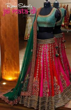 Beautiful Bollywood Heavy Lehenga Choli Indian Wedding Designer Bridal Dress Sari Suit New #jaimatadiboutique #LehengaCholi