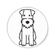 Wire Fox Terrier Dog Cartoon Sticker