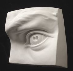 "Alberto Proietta, Eye, after Michelangelo (view from left side) Medium: Forton Polymer Modified Gypsum Size: Approx. 8"" X 8"" X 3.5"" (20cm X 20cm X 9cm)"