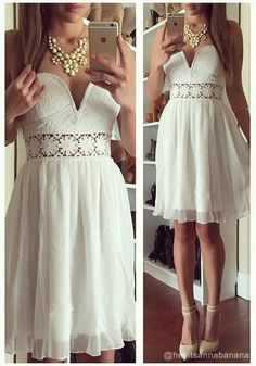In need of an ethereal piece to complete the boho chic looks of your dreams? Your search is over with this white sweetheart strapless dress....