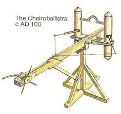 Ancient Greek Artillery Technology: From Catapults to the Architronio Canon  A bolt-shooting catapult, Invented by Apollodorus of Damascus, a Greek catapult engineer, for the Roman military.