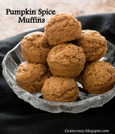 Grain Crazy: Pumpkin Spice Muffins. Love Pumpkin.