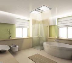 Dual Bathroom Heat Lamp Idea