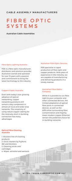 Initially founded out of a desire to provide high volume, efficient and economical local production of all fibre optic assemblies, FOS has since grown Fiber Optic Lighting, Innovation, Infographic, Cable, Cabo, Info Graphics, Cords, Electrical Cable, Infographics