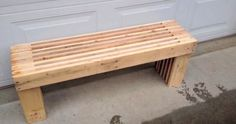 Pallet Bench DIY - YouTube