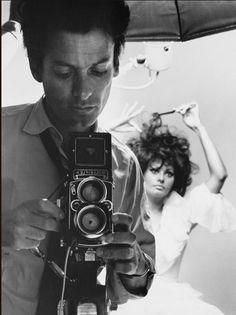 Richard Avedon with Sophia Loren