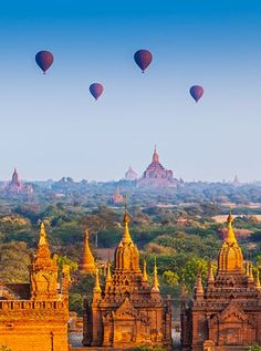 Bagan, Myanmar  This archeological area encompasses more than 2,000 Buddhist temples, pagodas and monuments that date back to the kingdom of Pagan in the ninth century.