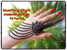 How to apply henna designs || Easy latest Best jewellery mehndi designs for hands tutorial - YouTube