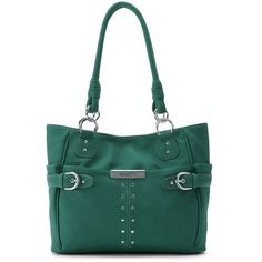 Rosetti Ring In The Tides Tote ($47) ❤ liked on Polyvore featuring bags, handbags, tote bags, dark green, dark green handbags, purse tote, rosetti handbags, handbags totes and rosetti purse