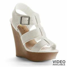 7593de50eea Candie s Strappy Wedge Sandals - Women (Kohls) Shoe Collection
