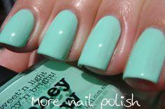 Picture Polish Pastels, Honey Dew - a light pastel turquoise creme