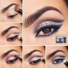 maquillaje delineadr azul