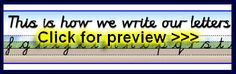 Free Primary Teaching Resources in Cursive Handwriting Script (joined writing), printables, posters, visual aids and more - SparkleBox