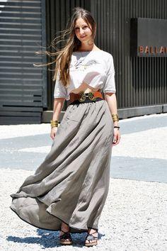 Dolce & Gabbana spring 2011 dress - Italian Street Fashion - Summer 2011 Milan Italy Street Fashion - Elle