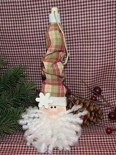 Wooden Spoon Santa ornament
