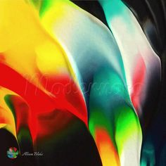 Colourful flame by Alison Blake