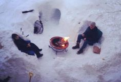 Winter Snow Mission Hill fire pit