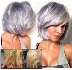 Image result for lavender silver hair