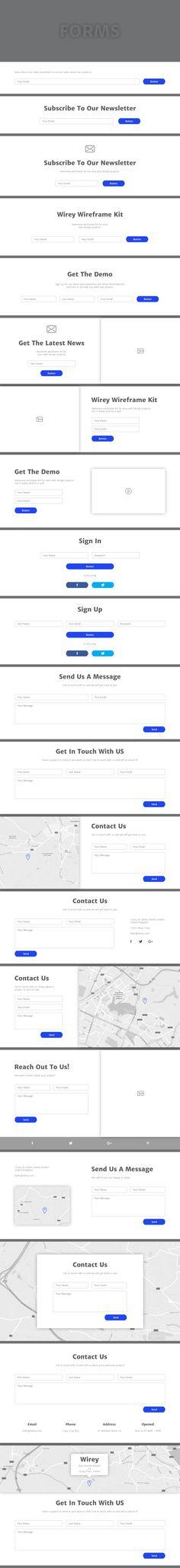 Wirey Wireframe Kit    #ux #wireframe #website #webdesign #uxdesign…