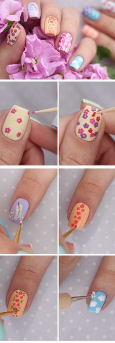 24 Easy Spring Nail Designs for Short Nails #springnaildesigns