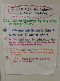 Elementary School Counselor's Blog: Using the Habits to Solve Conflicts