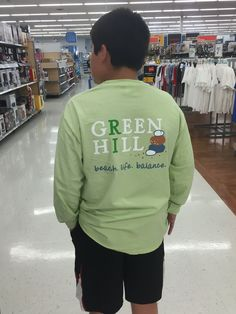 Back View of Signature Green Hill Beach, Rhode Island Long Sleeve T-Shirt with custom design.
