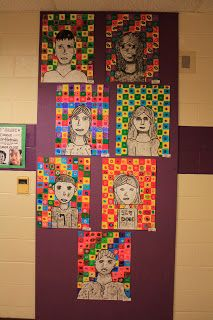 Peace Love & Art Class: Fifth Grade Double Self-Portraits and Third Grade Cityscapes!