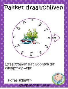 Spellingpakket draaischijven –woorden met cht aan het eind. Dutch Language, School, Dyslexia, Pirates, Schools
