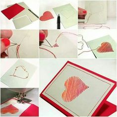One of my favorite holidays is Valentine's Day, February For this special holiday you can make romantic Homemade Valentines Day Cards and other items Homemade Valentines Day Cards, Valentine Day Crafts, Valentine Heart, Homemade Cards, Popsicle Stick Houses, Diy Home Crafts, Craft Organization, Summer Crafts, Crafts For Teens