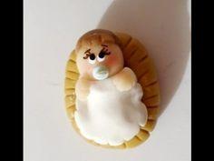 ▶ Nacimiento Navideño porcelana fria paso a paso - Niño dios - Pesebre - YouTube