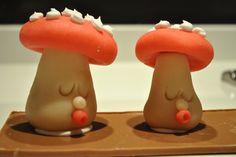 Marzipan mushrooms. Yummy