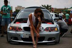 For decades, a sales technique at auto shows employs female models attired in tight dresses or miniskirts wearing uncomfortable heels, smiling and posing enchantingly. E36, Bmw 328i, E46 M3, Trucks And Girls, Car Girls, Girl Car, Diesel, Bmw Girl, Lamborghini