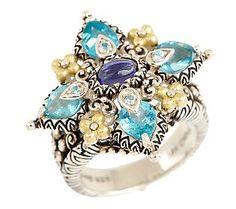 Barbara Bixby Apatite & Iolite Ring