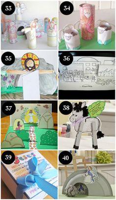 Christian Easter Crafts for Kids- most with free downloads.  This is great!!
