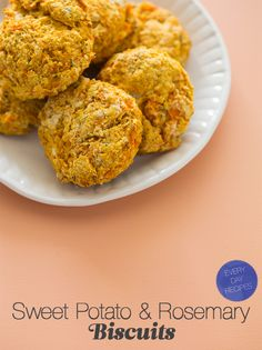 sweet potato & rosemary biscuits @spoonforkbacon