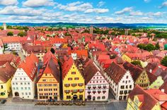 The Old Town and Market Square in Rothenburg ob der Tauber, Bavaria, Germany, along the Romantische Strasse. Photo: iStock