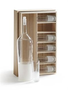 When the occasion calls for something special, our Tova Frosted glass set makes a notable presentation. Partially sandblasted glass bottle and six glasses are elegantly packaged in a kiri wood gift box. Bottle includes a simple frosted glass stopper. 15% off Now