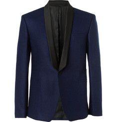 AMIShawl-Collar Wool-Flannel Tuxedo Blazer