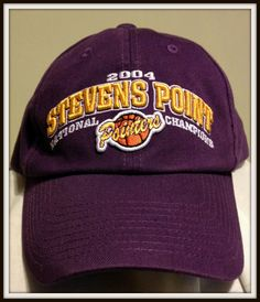 STEVENS POINT POINTERS 2004 DIVISION lll BASKETBALL CHAMPIONS CAP ADULT ONE SIZE #IMPACTSPORTS #UNIVERSITYOFWISCONSINSTEVENSPOINT