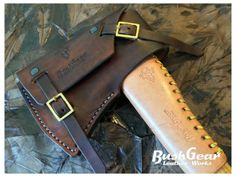 Gransfors Small Forest Axe Custom leather sheath handmadw by Bushger Leather works