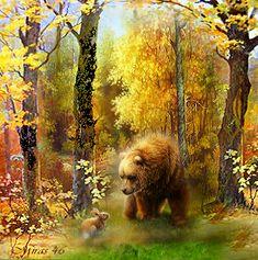 friendly encounter Glitter Graphics, Beautiful Pictures, Fine Art, Landscape, Authors, Nature, Printables, Painting, Image