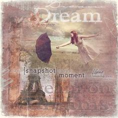 Dream Digital Photo Book Cover or Photo Panel, Details and Instructions: http://projectcenter.creativememories.com/digital/2010/09/august-reminisce-dream-on.html ; Software: Storybook Creator by Creative Memories - available here: http://www.mycmsite.com/sites/cat; Software: Storybook Creator; Embellishments: Reminisce Digital Power Palette, Cheerful Digital Power Palette,Distressed Digital Overlays, Reminisce Digital Overlays, Digital Expressions of Teen Life;  Font: Jellyka,St. - Andrews…