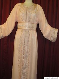 Moroccan Caftan Abaya Dubai Dress Takchita Jilbab Orient Wedding LARP Galabeya 8 | eBay